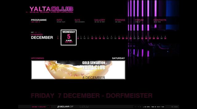 Ялта Клуб уеб дизайн от RIZN