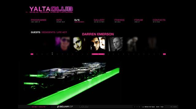 Ялта Клуб промоционален уеб сайт от RIZN